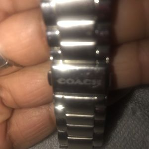 Ladies Pink Faced Coach Watch